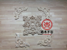 Do not forget to log in Dongyang wood wood trim leaves flower box window decal European Style Fireplace door flower
