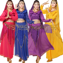 3 pieces Female Indian Party Dance DS Club Clothing Costumes Belly Dancing Costume Dress Women Bellywood Stage wear dance dress(China)