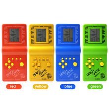 Free delivery Classic Tetris electronic portable LCD game console children's puzzle toys  video game game console Special sales