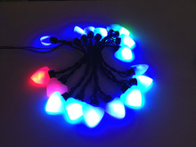 Merry Christmas lights RGB Colorful Hearts LED lamps AC 220V Waterproof LED String for Holiday Party Wedding Decoration