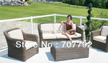 2017 New Collection Garden Furniture Poly Rattan 4 Seat Sofa Set(China)