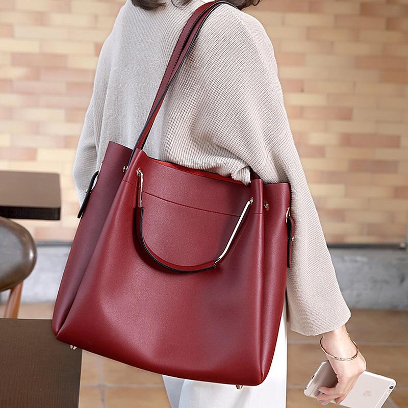 Womens Leather Handbags Big Size Luxury Handbags Casual Composite Bag Women Bags Women Messenger Bags Shoulder Bag Bolsas<br>