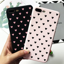 Buy iPhone X Case Love Heart Pink Color Plastic Cover Case Hard PC iPhone 5 5S SE 6S 6S Plus 7 7 Plus 8 Plus Coque for $1.33 in AliExpress store