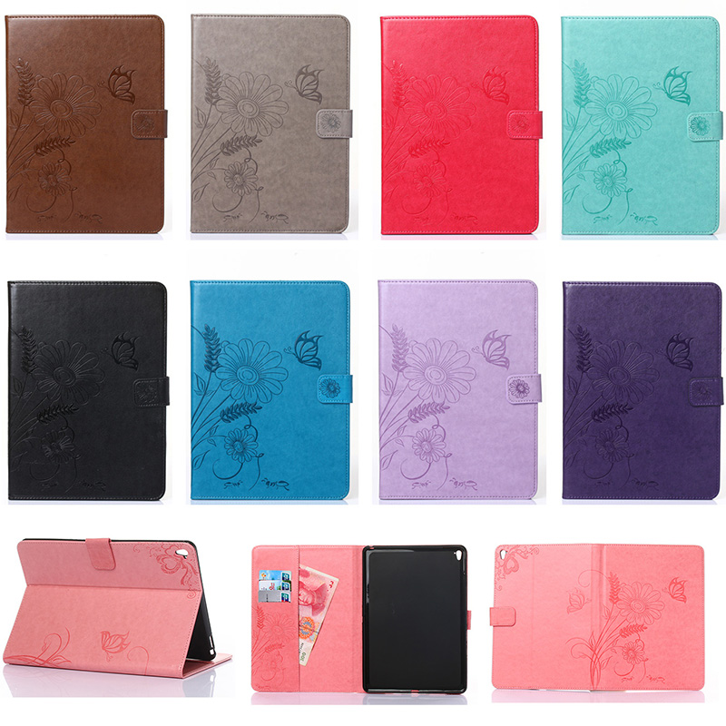 For iPad Pro 9.7 Case Emboss Flower Butterfly Ant Pattern Wallet Flip PU Leather For iPad Pro mini 9.7 Tablet Back Cover Funda<br><br>Aliexpress