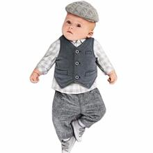Newborn Baby Boy Cloths Spring Autumn Cotton Waistcoat Suit Jackets And Vests for Boys Bebe Chiffons Nouveau-ne,Baby Cloths Boy