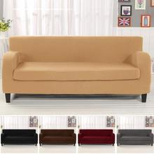 4-Seat Sofa Solid color Covers Stretch Chaise Flexible tightly wrap slipcover for cafe living rooms bedrooms 40