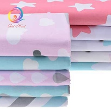 Printed Clouds Pattern Twill Cotton Fabric Tilda For Baby Bedding Clothing Tecido Quilting Sewing Tecidos Baby apron 160*50cm