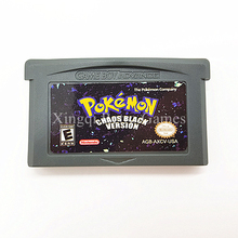 Nintendo GBA Game Pokemon Chaos Black Video Game Cartridge Console Card English Language Version(China)