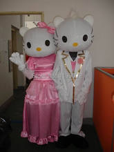 Newest Cheap High Quality Weeding Hello Kitty Mascot Costume Cartoon Inflatable Mascot Character Costume Free Shipping