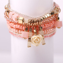 9 PCS/set Bohemia flower-like bracelet beads bracelet female charm jewelry sell like hot cakes
