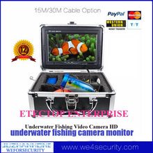 15m Cable Waterproof HD1200TVL Mini Fishing Video Camera Underwater Video Kamera W/ Aluminum Carry Case