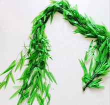 10pcs 1.8M Willows Wired Ivy Garland Silk Artificial Vine Greenery Wedding Home Restaurant Venue Decoration(China)