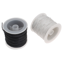Cheap Jewelry Cord Accessories DIY Making for Necklace Bracelet White Black Wax Cord Waxed Linen Cord 1mm 30Yard/Spool Cord