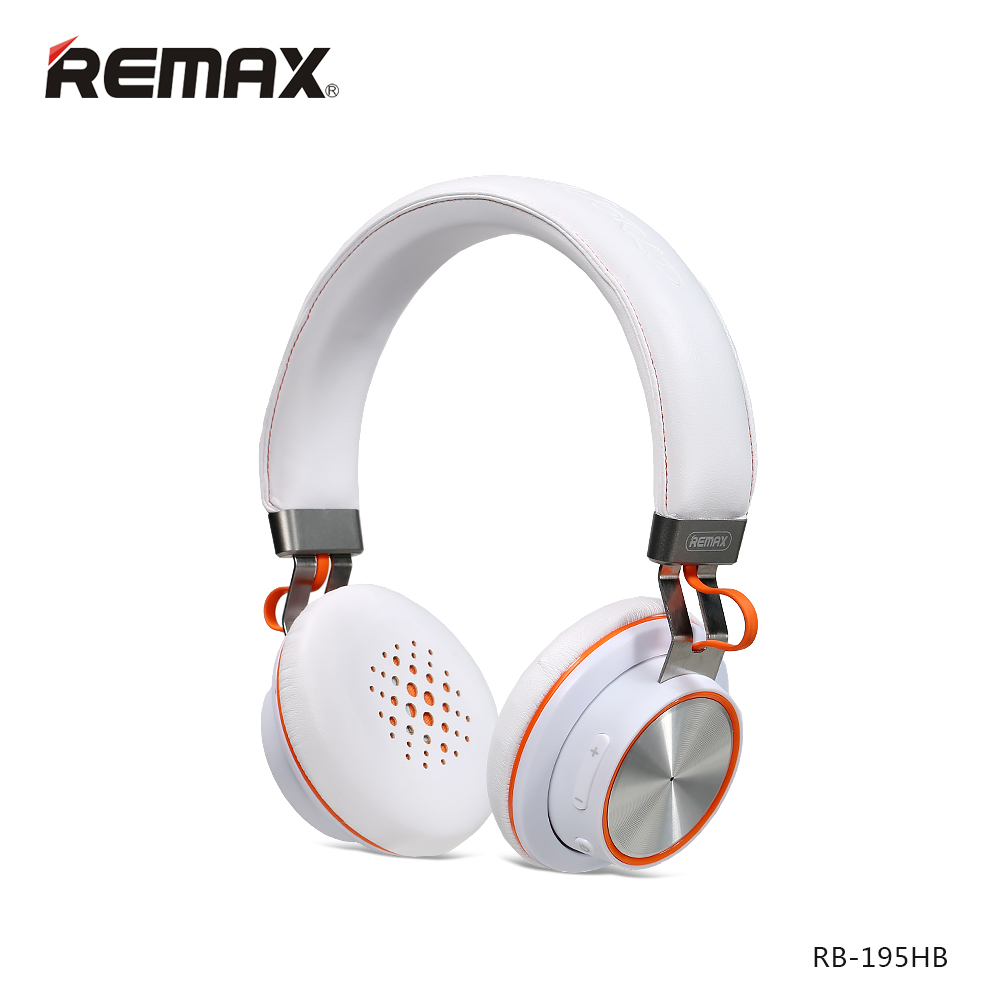 Remax 195HB wireless Bluetooth headphone stereo headset Bluetooth 4.1 music headset over the earphone with mic for xiaomi<br>