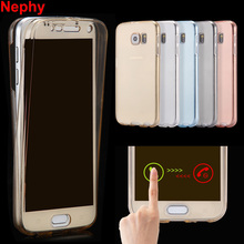 Nephy Phone Cover For Samsung Galaxy A3 A5 A7 J3 J5 J7 2015 2016 S4 S5 S6 S7 edge Duos Grand Prime Case Silicon TPU Clear Casing(China)