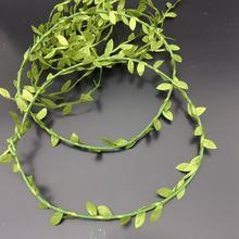 Silk Leaf-Shaped Handmake Artificial green Leaves For Wedding Decoration DIY Wreath Gift Scrapbooking Craft Fake Flower