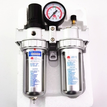 Air Compressor Oil Lubricator Moisture Water Trap Filter Regulator With Mount SFC-200