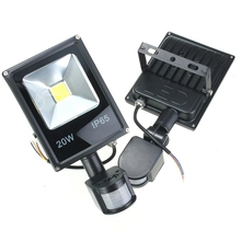 AC 85-265V 10W 20W 30W 50W 70W 100W PIR LED Floodlight Outdoor LED Flood light lamp with Motion detective Sensor spot(China)