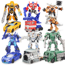 With Package 7 styles 18CM Transformation Robot Cars and prime Toys puzzle Action Figures Classic Toys Kids Christmas Gifts