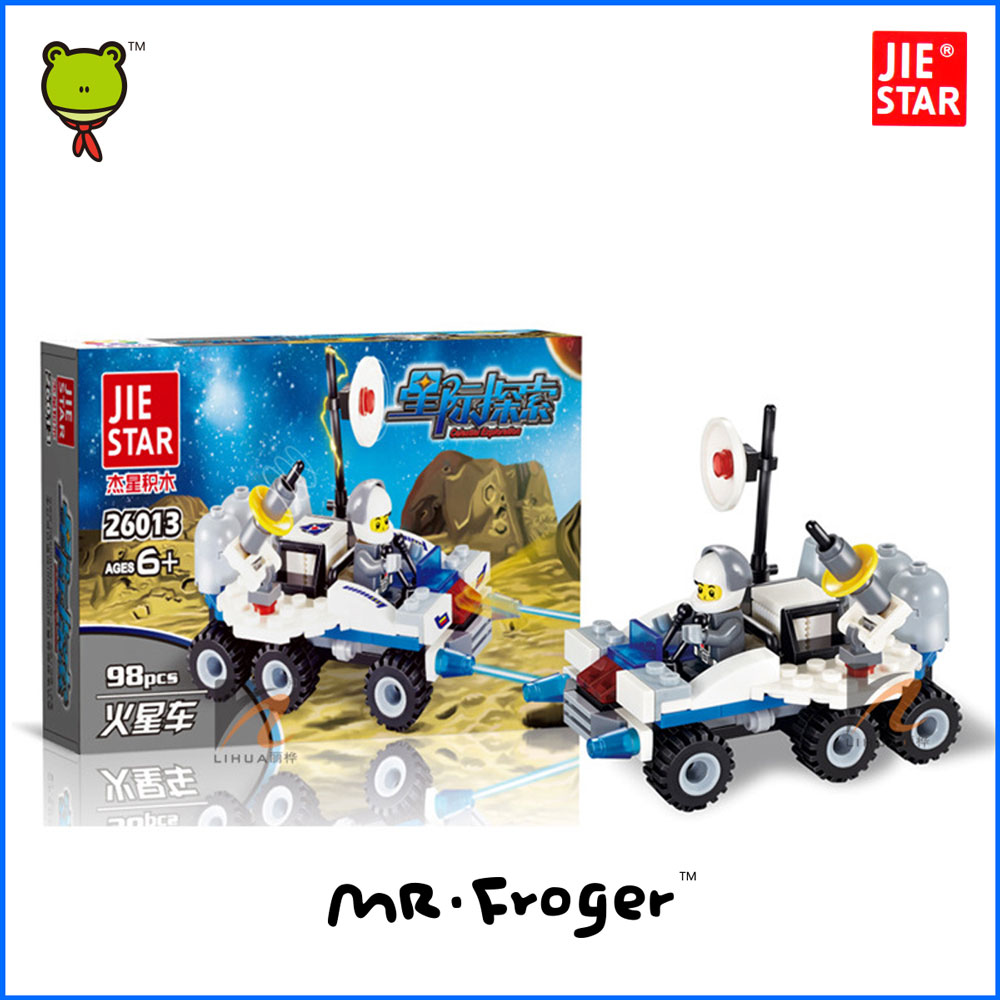 Mr.Froger JIE STARRover Celestial Exploration Building Blocks Toy Interstellar Spacecraft Minifigures Bircks Model Mars Car <br><br>Aliexpress