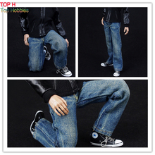 FIGURE TOYS 1/6 ZYTOYS men blue jeans With washing effect clothing accessories(China)