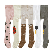 Brand Designer Girls Stocking Cute Cotton Children's Tights For Boys Pantyhose Kids Tights Toddler Baby Clothing Suit For 0-3Y(China)