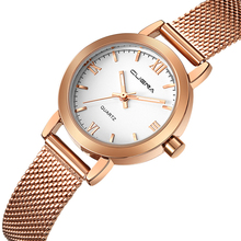 CUENA women watches gold ladies watches 2017 women wrist watch ladies wrist watches for women(China)