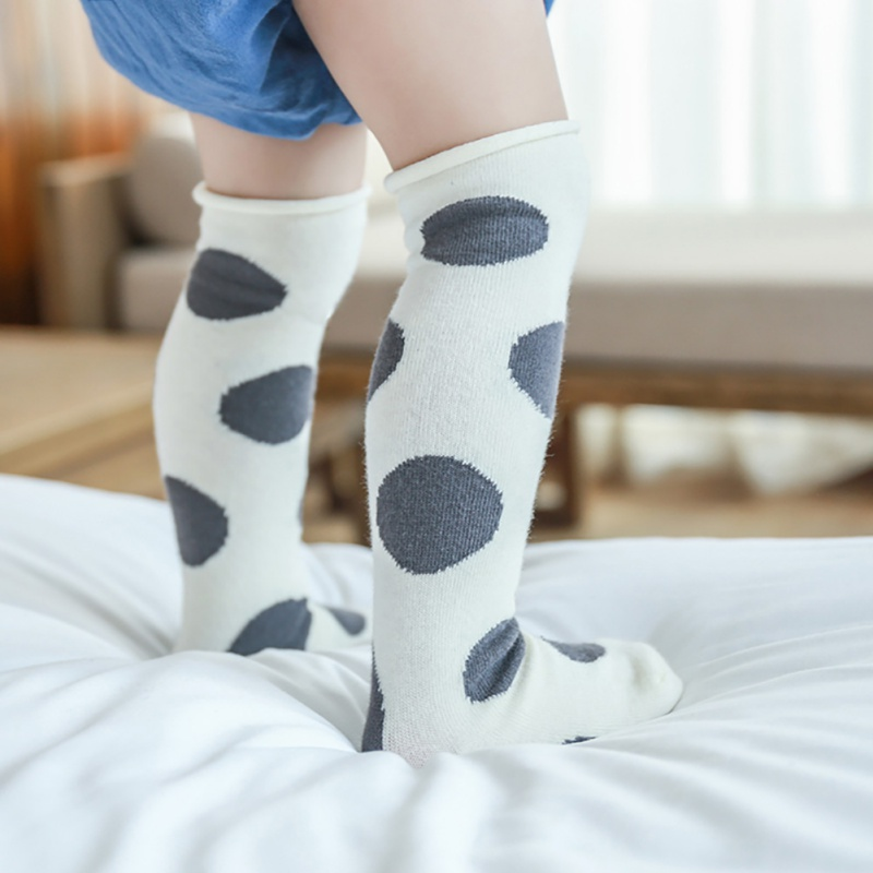 Toddler Kid Baby Girl Knee High Long Socks Bow Cotton Casual Stockings 0-4Y SD