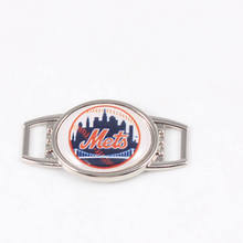 MLB Baseball New York Mets Team Oval Shoelace Charms For Sport Shoes And Paracord Bracelets Jewelry Decoration 10pcs