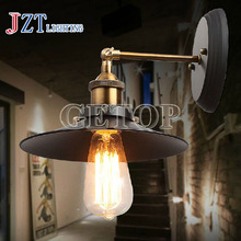 J best price Loft American industrial light restoring ancient ways wall lamp creative pipe lamps Led light bar coffee design(China)