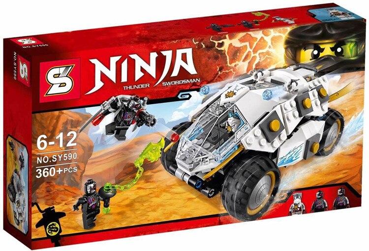 SY590  Ninja Series Thunder Swordsman Titanium Alloy Chariot Model building blocks action   bricks toys<br><br>Aliexpress