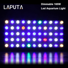 1pcs LAPUTA Led Aquarium Light Dimmable 165W Led Grow Light Full Spectrum for Fish Tank Reef Coral Led Grow Light 2 Mode