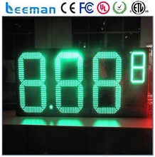 leeman 12 inches fuel station led digital gas price sign 8.888 waterproof 7segment Digital led gas price sign/led oil station