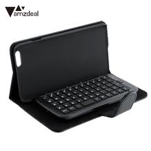 "amzdeal Black Slide-Out Wireless Bluetooth 3.0 Keyboard leather Case Cover Fit For iPhone 6 Plus 5.5""(China)"