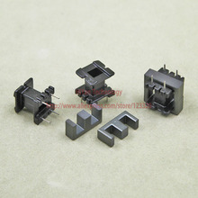 20sets/lot EE16 PC40 Ferrite Magnetic Core and 2 Pins + 2 Pins Plastic Bobbin Customize Voltage Transformer