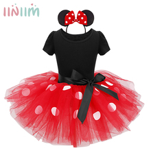 iiniim Baby Girls Clothes Tutu Dress+Ear Headband Carnival Party Kids Christmas Gift Performance Cosplay Dresses Clothing 12M-8Y