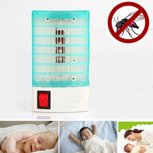Mini Mosquito Fly Bug Insect Trap Zapper LED Electric Killer Night Lamp US Plug