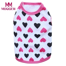 Cotton Jersey Vest Pet Clothing puppy dog cotton vest t shirt spring summer small dog clothes roupa para cachorro pequeno(China)