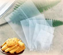 100 X Biscuit Cookies Candy Bread Baking Gift Packaging Bags For Jewelry Cake Tea Translucent Frosted Flat Sealing Bag
