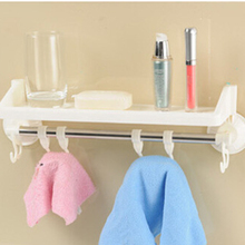 Bathroom Shelves Kitchen Stand Rack Organizer Shelf Multifunctional Strong Suction Holders Mounted Waterproof Hook Up Tool P237(China)