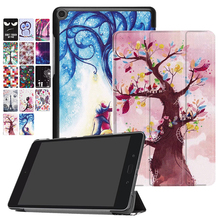 "Painting Ultra Slim Tri-Folding Stand Leather Case Skin Cover Shell For ASUS ZenPad Z8s ZT582KL Verizon 2017 P00J 7.9"" Tablet PC(China)"