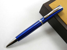 BLUE 051 square metal silver Accessories Ballpoint Pen