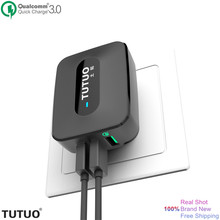 TUTUO Quick Charge 3.0 Fast USB Wall Charger Portable Travel 3 Ports USB Smart Charger US EU Plug for Xiaomi iPhone 7 Power Bank