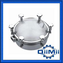 350mm SS304 SS316L stainless steel manhole cover,manway cover, Height:100mm