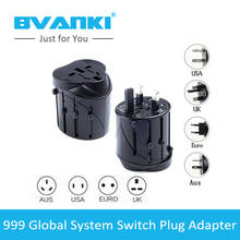 [Bvanki]100Pcs/Lot china suppliers 999 World Global Travel AC Power Charger Adaptor with AU US UK EU converter Plug for travel