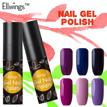 Ellwings Glitter Hybrid 29 Colors Nail Gel Polish Long Lasting Soak Off UV Nail Gel Varnish Semi Permanent Colorful Gel Lacquer