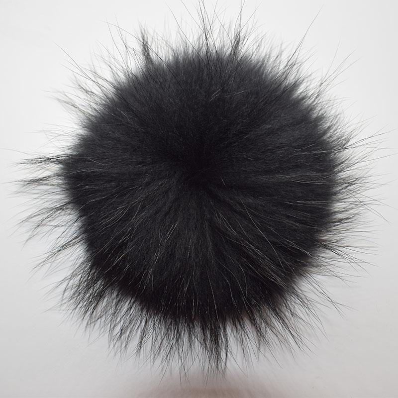 raccoon fur pompom black 3