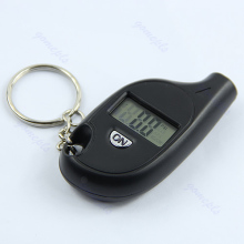 Mini LCD Digital Tire Tyre Keychain Air Pressure Gauge For Car Auto Motorcycle(China)