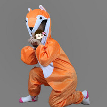 Boy Girls Cartoon Animal Costume Orange Fox Cosplay Jumpsuits Clothing Carnival Costumes Birthday Party Gift(China)