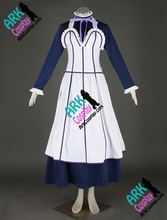 Black Butler Cosplay Emma Cosplay White Womens Maid Costume Black Butler Cosplay Costume(China)